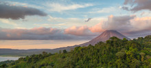 Arenal Volcano At Sunrise In C...