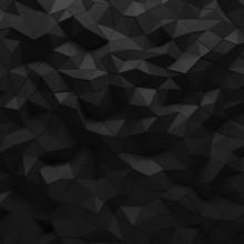 Abstract Black 3D Geometric Po...