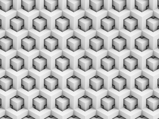 Abstract polygonal 3D seamless pattern - geometric box structure background