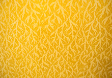 Close Up Of Gold Fabric Delica...