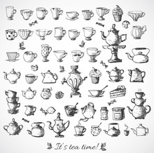 Sketches Of Tea Objects.