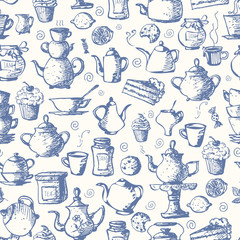 Seamless tea background