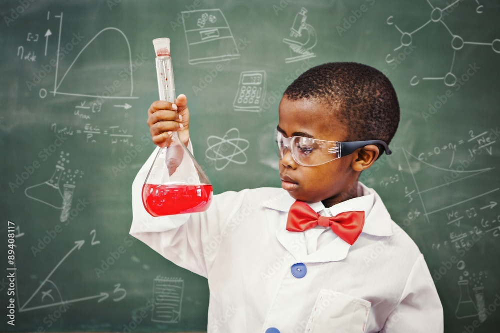 Fototapety, obrazy: Composite image of math and science doodles