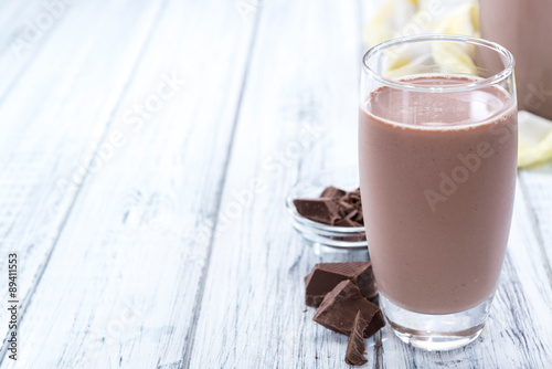 Staande foto Milkshake Cold Chocolate Milk