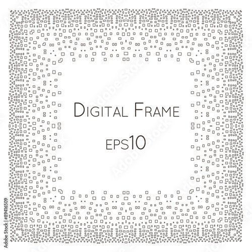 Intricate Digital vector frame with small rectangles. - Buy this ...