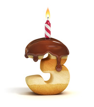 Birthday Cake Font Number 3