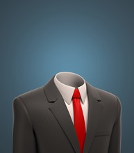 Empty Business Suit 3d Illustr...