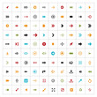 Simple flat shape of arrows. Icons set. Contemporary modern flat