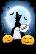 Leinwandbild Motiv Halloween Background