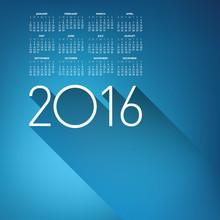 An Elegant 2016 Cloud Calendar...