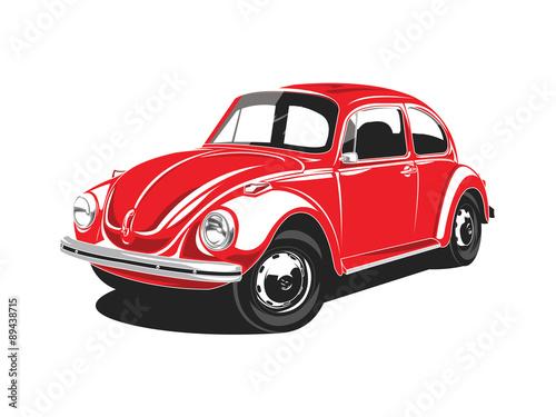 Red VW Beetles Poster