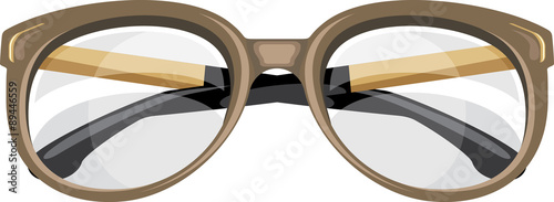 Fotografía  Reading glasses isolated on the white