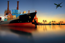 Container Ship In Import,expor...