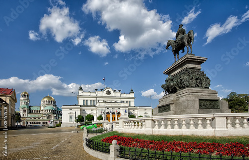 Canvas Prints Eastern Europe Bulgarian parliament square