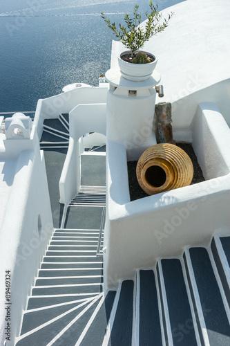 Fototapety, obrazy: Stairs on Santorini Island Greece