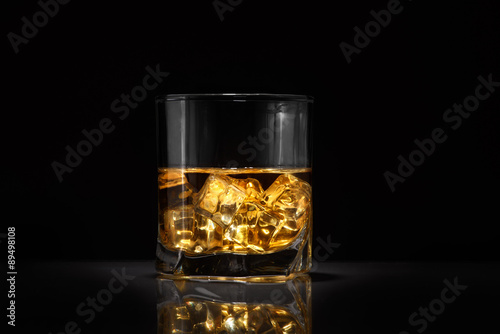 Luxury still life of whisky glass Poster