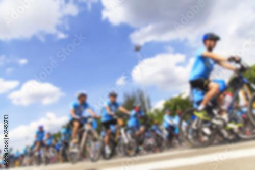 Foto op Aluminium Motion blurred biker
