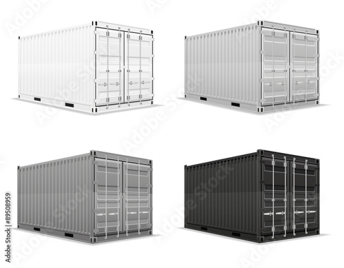 cargo container vector illustration Wallpaper Mural