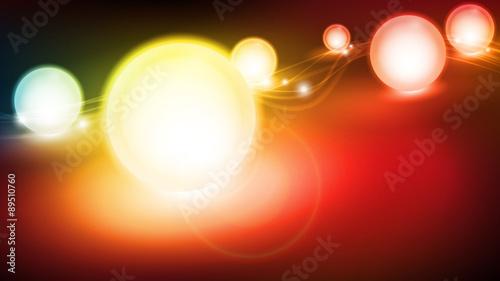 Fototapeta świetliste kule wektor obraz
