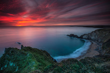 Hope Cove Sunset 1