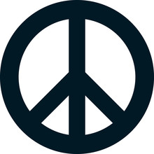 Vector Peace Symbol Isolated O...