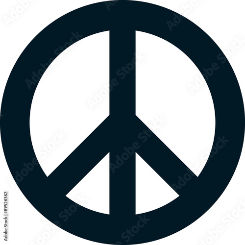 Billede på lærred Vector peace symbol isolated on white background