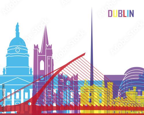 Dublin skyline pop Canvas Print