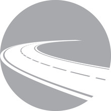 Logo With Perspective Of Curved Road