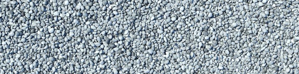 Panorama mit vielen Kieselsteinen