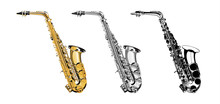Vector Illustration Saxophone ...