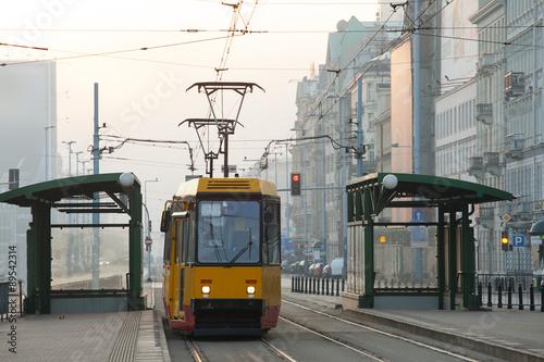 Fototapeta Tram in Warsaw obraz