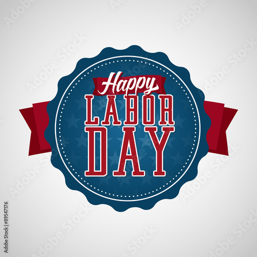 Fotografía  Happy Labor Day Badge Label