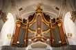 canvas print picture - The organ in St. Michaelis church in Hamburg, Germany.