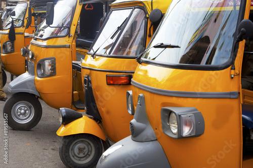 Fotografie, Obraz  auto rickshaw  stand in Tamil Nadu