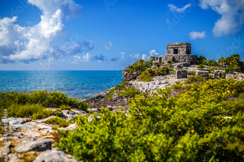 Coast at Tulum, Mayan Ruin #89554559