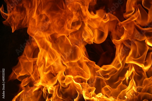Canvas Prints Fire / Flame flames and fire landscape