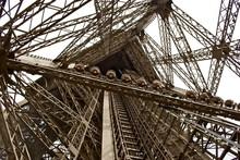 Looking Inside The Eiffel Tower / Paris, France