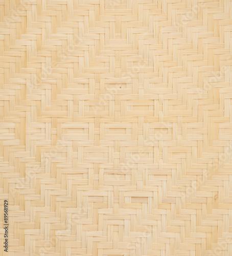 Fotomural wicker basket on white background