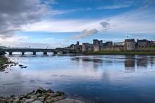 King John's Castle And Thomond Bridge In Limerick