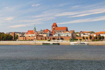 Fototapeta Toruń panorama starego miasta