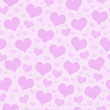 Pink Hearts Tile Pattern Repeat Background