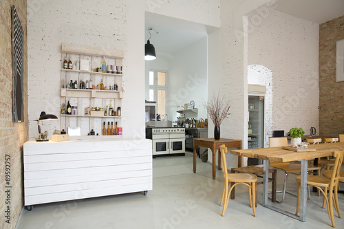 Indoor view of a modern individual bistro