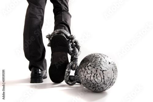 Fotografía  足かせを付けられた人間の足
