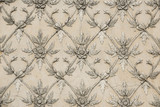 flower shape line of old stucco work - 89601749