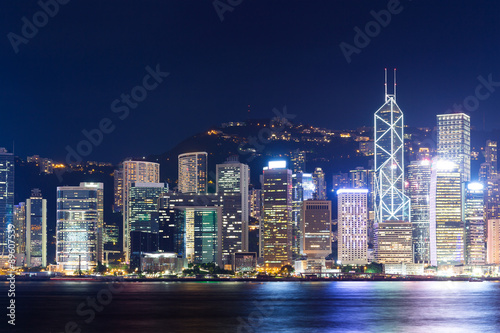 Wall Murals Hongkong night light