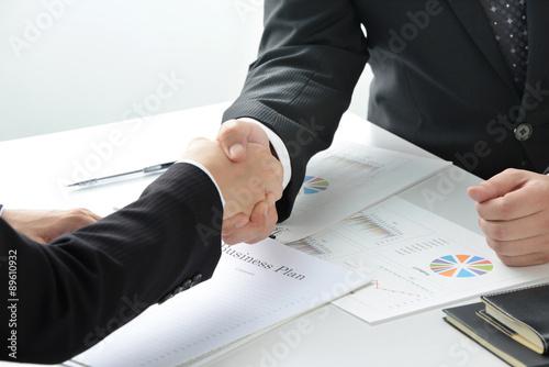 ビジネスイメージ―契約成立 Fototapet