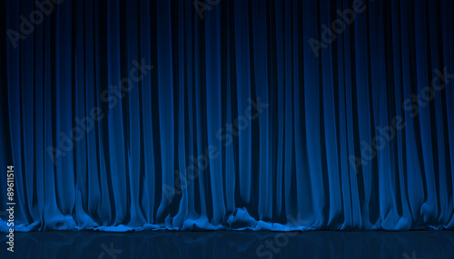Cuadros en Lienzo  Blue curtain in theater.