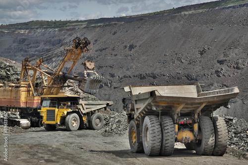 Fototapeta Odkrywka rud żelaza