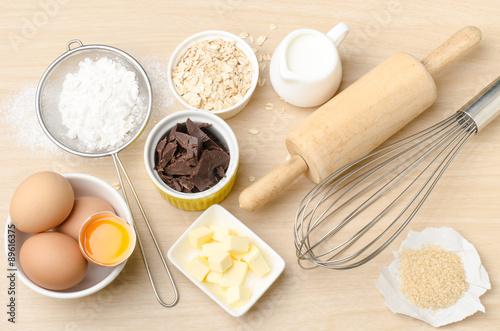 Papiers peints Cuisine Food ingredient for baking,cooking