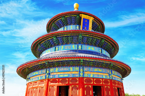 Poster Wonderful and amazing temple - Temple of Heaven in Beijing.Inscr